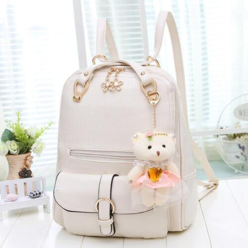 The new double back female bag trend lady backpack with shoulder bag