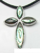 Cross Pendant Exquisite Natural Abalone Shell