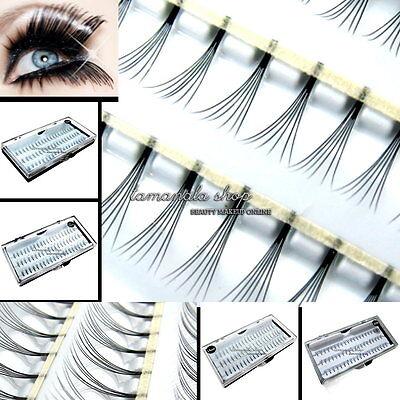 60pcs Individual Black False Eyelash Cluster Eye Lashes Extension Makeup Tools