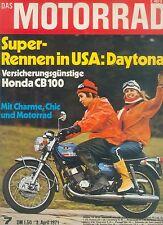 Motorrad 7 71 Honda CB 100 Aermacchi 125 R/C Enduro Japan Asien Italien 1971