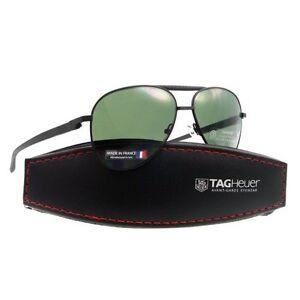 83e03aa1a1f4e TAG Heuer Automatic 0881 301 58mm Aviator Sunglasses in Black Green ...