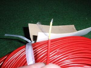 15m 22756 BüGeln Nicht Rotes Nf-kabel D=2mm 1-adrig Geschirmt Für Mikrofon Etc Rarität