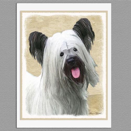 6 Skye Terrier Dog Blank Art Note Greeting Cards