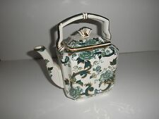 Mason Ironstone chartreuse teapot made in England