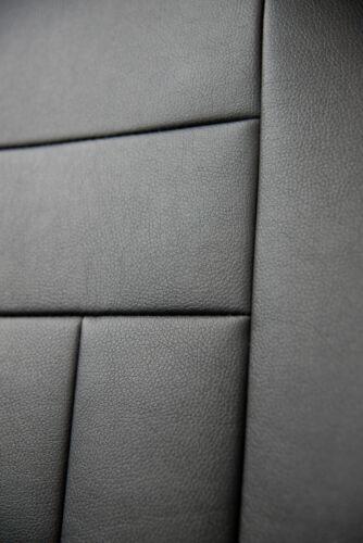 Audi A2 Maßgefertigte Kunstleder Sitzbezüge in Schwarz Autositzbezüge