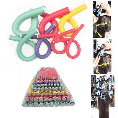 10Pcs Sponge Curler Maker Bendy Twist Curls Tool DIY Styling Hair Rollers Choose