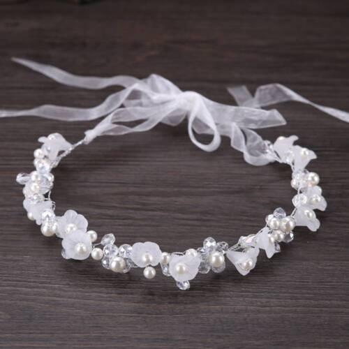 Réglable Fleur Serre-Tête Perles Tête Couronne Cheveux Fleur Couronne Accessoires