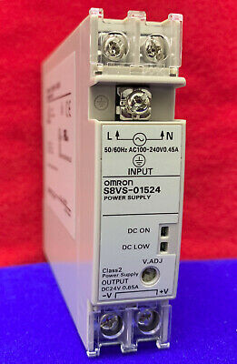 New Omron S8VS-01524 100-240VAC DIN Rail Power Supply 5V 2A Output 10W Switching