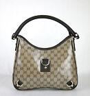 NEW Authentic GUCCI Crystal GG Abbey Hobo BAG Handbag w/D Ring 268637 9903