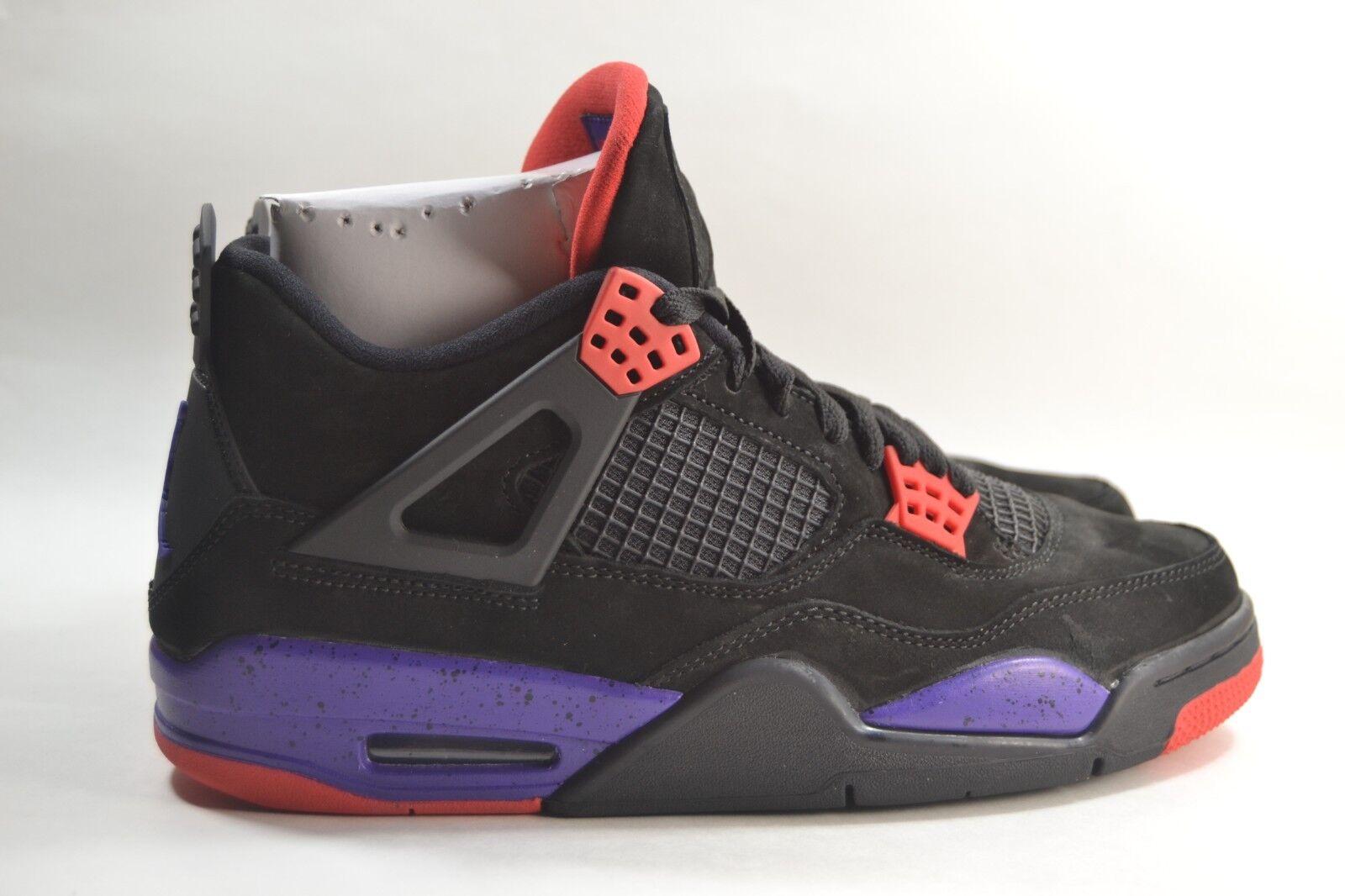 New Mens Nike Air Jordan Retro 4 IV NRG Raptors Black Purple AQ3816-065