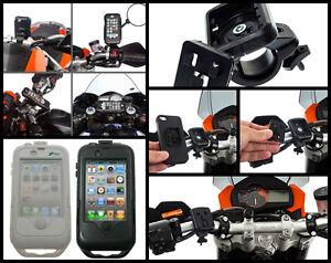 Custodia-moto-impermeabile-iphone-4-pellicola-antigraffio-Sgancio-Rapido