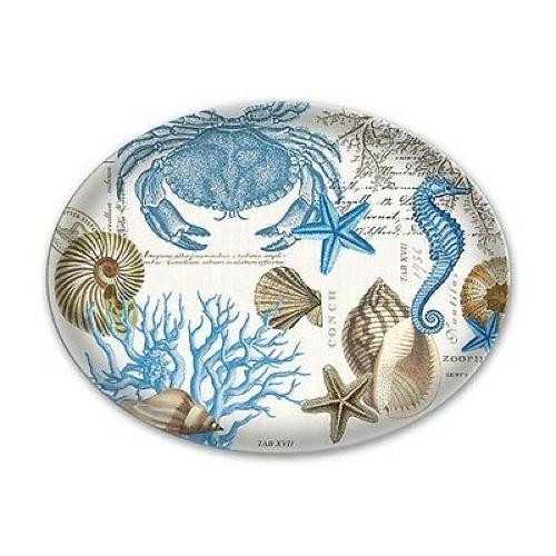 NEW in box. Michel Design Works Glass Soap Dish Gardenia
