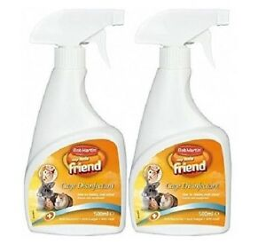 CAGE-DISINFECTANT-1L-500ml-x2-Bob-Martin-Pet-Animal-Cleaning-Home-bp-Spray