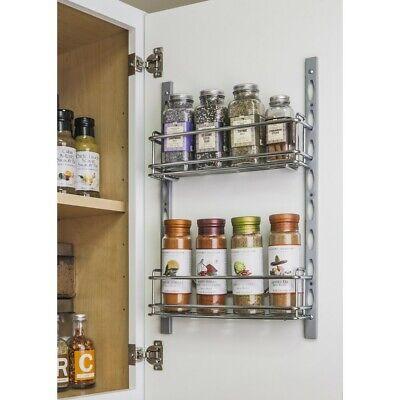 Door Mounted Spice Rack 3 X 11 Wall, Spice Rack For Kitchen Cabinet Door