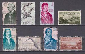 ESPANA-1967-NUEVO-MNH-SPAIN-EDIFIL-1819-26-FORJADORES-DE-AMERICA