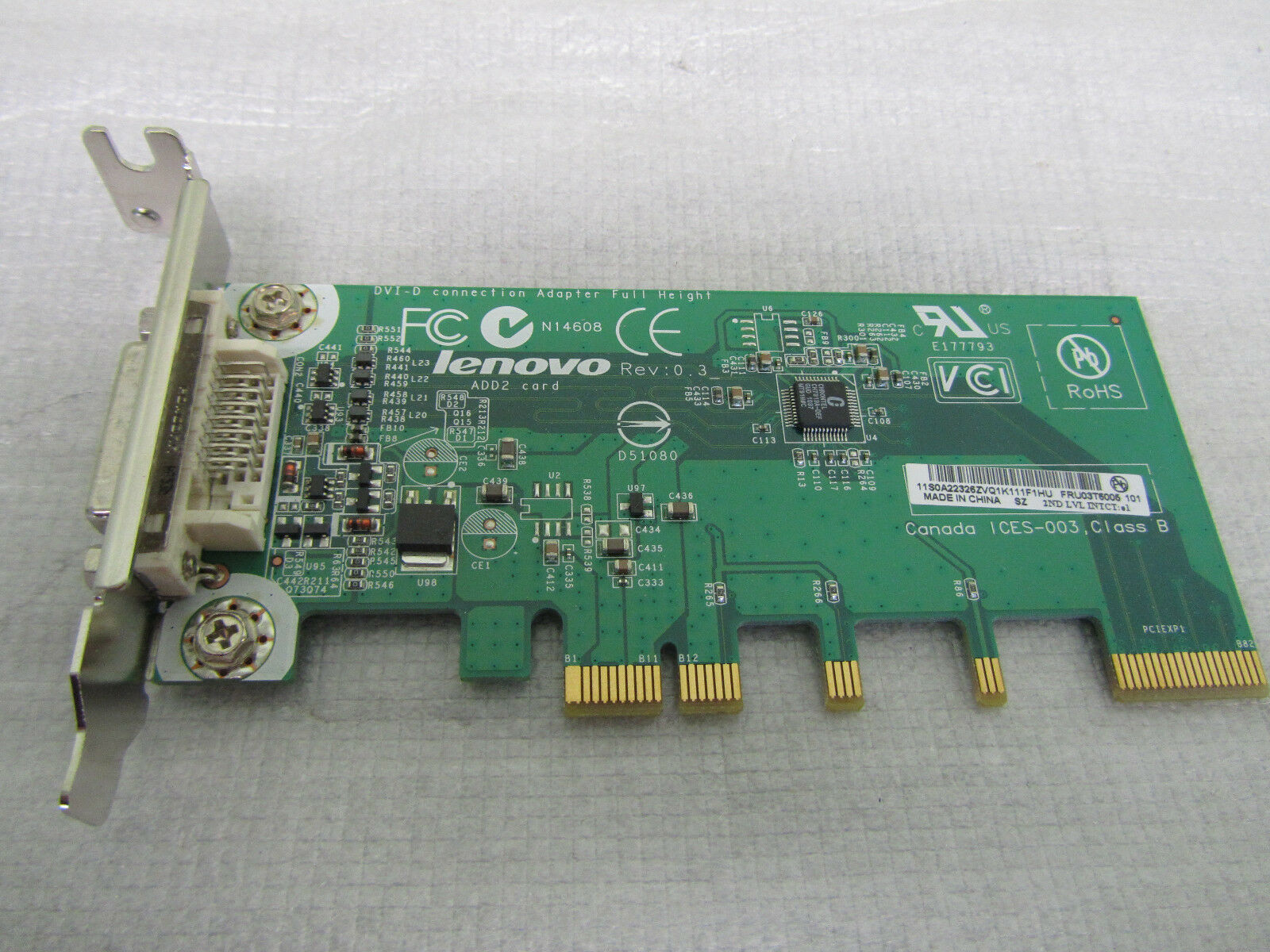 Lenovo 03T6005 ADD2 DVI-D ThinkCentre PCIe Video Connection Adapter