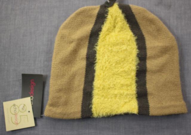 8d911243e10 Echo Design Womens Beige   Fluffy Yellow Super Soft Winter Beanie Hat NWT 1  Size
