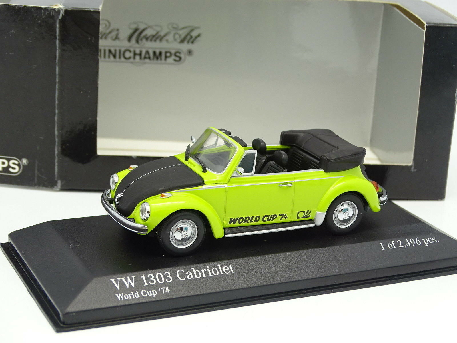 Minichamps 1 43 - VW 1303 Cabriolet greene World Cup Cup Cup 1974 2e266b