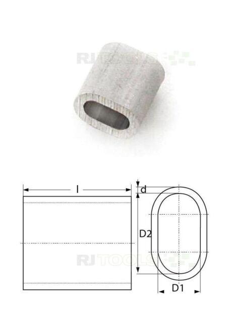 1000 x Pressklemme - Alu Pressklemme Presshülse - Presshülsen - 2.5 mm - 933994