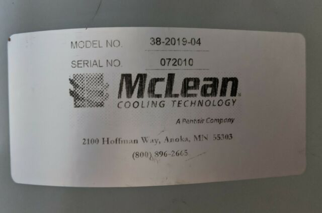 McLEAN Blower Assembly 71212638 E17 P//N:28-1064-03 Motor 43-2013-01 TypeU21