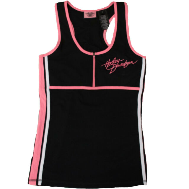 Harley Davidson HD Womens Pink Label Performance Activewear Racerback Tank Top