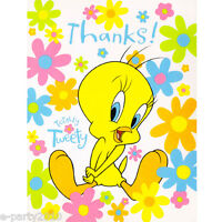 Tweety Bird Thank You Notes (8) Looney Tunes Birthday Party Supplies Cards