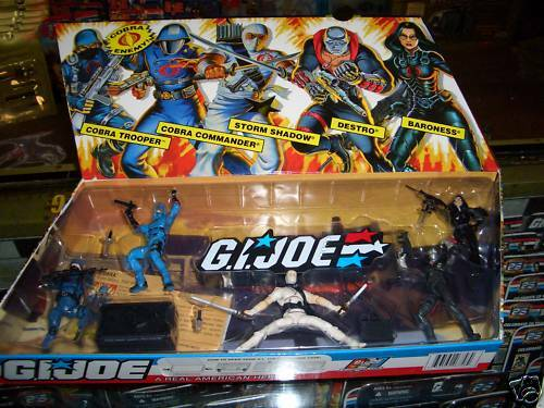 GI JOE 25th ANNIVERSARY COBRA FIGURE GIFT SET NEW