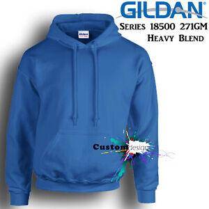 Gildan-Royal-Blue-Hoodie-Heavy-Blend-Basic-Hooded-Sweat-Mens-Pullover