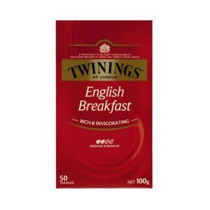 Twinings English Breakfast Tea Bags 50 pack 100g