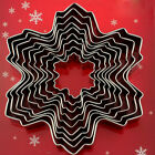9Pcs Snowflake Steel Cake Fondant Mold Biscuit Pastry Cookie Cutter Moulds New