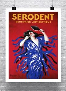 Serodent-1928-Vintage-Leonetto-Cappiello-Dental-Poster-Canvas-Giclee-24x32-in