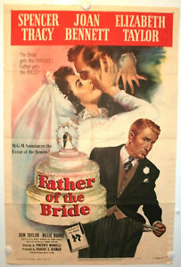 FATHER OF THE BRIDE • TRACY & TAYLOR • 1950 • 1-Sheet • VG/FN • Original