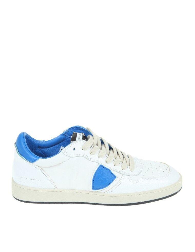 PHILIPPE MODEL SNEAKERS  White blueette shoes men SHOES HERRENSHUHE100%AUTE