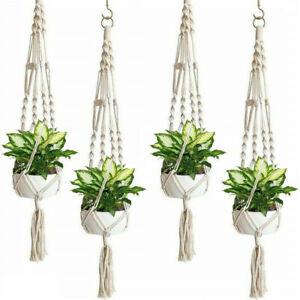 4-PCS-Plant-Hanger-Flower-Pot-Plant-Holder-Large-4-Leg-Macrame-Jute-41-034-US