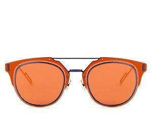 0345658cd67 Image is loading Dior-Composit-1-0-Mirrored-Sunglasses-in-Orange