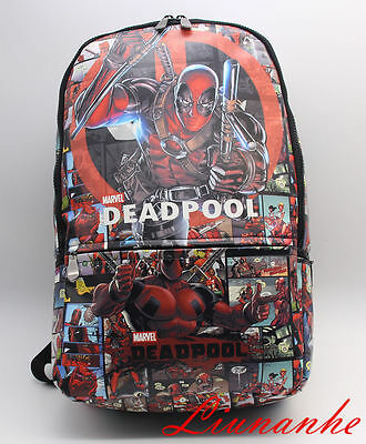 New Deadpool Backpack Marvel comics X-man shoulder computer school Bag