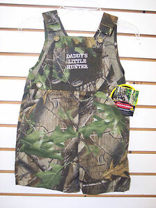 4T Infant//Toddler Boys Realtree Daddy/'s Little Hunter Shortall Sizes 18mo