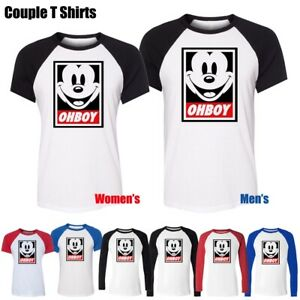 OhBoy-Mickey-Mouse-Funny-Obey-Parody-Dope-Men-039-s-Women-039-s-T-Shirt-Graphic-Tee-Tops