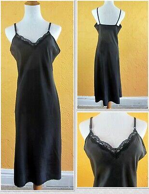 Womens FULL SLIP White Ivory Beige Navy Black Sml Med Large XL Nylon Anti-Cling