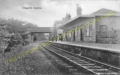 2 Tregarth L/&NWR. Bethesda Line Bangor Felin Hen Railway Station Photo