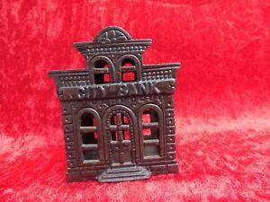 Original, Gefertigt Vor 1945 Blechspielzeug Hart Arbeitend Alte Spardose__eisene Bank__city Bank__eisenhaus__um 1900 !