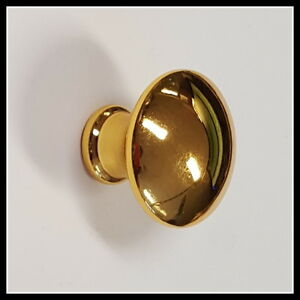 30x-die-cast-Mushroom-Knob-Gold-Plated-For-Draws-Cupboards-amp-Cabinets-5003976