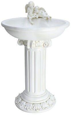 MP Essentials Gnome Birdbath Table Garden Bird Bath Bowl Feature with Solar Light Up Feature