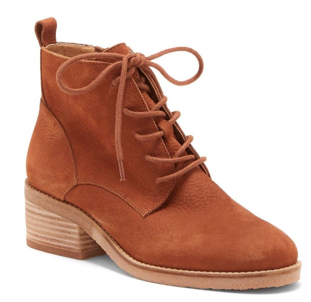Lucky Brand avvioIES Marronee LEATHER stivali scarpe Toffee Dimensione 6 M -New In Box-