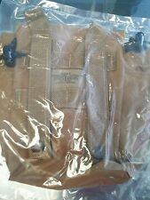 NEW 1qt molle 2 canteen/general purpose pouch coyote