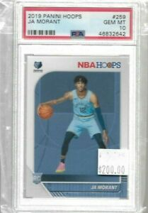 2019-Panini-NBA-Hoops-Ja-Morant-rookie-card-PSA-10-Grizzlies