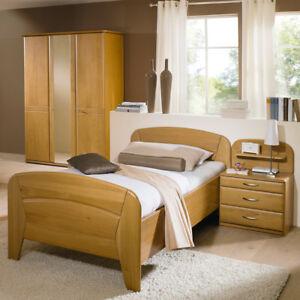 Details zu Schlafzimmer Vanessa Plus von Steffen Wildeiche teilmassiv Bett  mit Komforthöhe