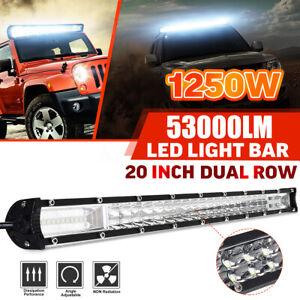 20Inch-32000LM-Tri-Row-LED-Work-Light-Bar-Spot-Beam-Offroad-Car-Truck-Driving