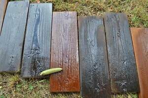 Image Is Loading 2 Molds Old Wooden Boards Concrete Mould Garden