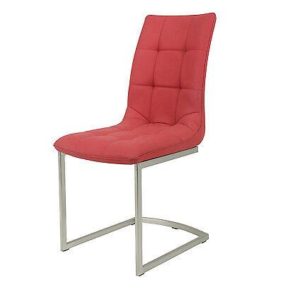 """GüNstig Einkaufen Schwingstühle Esszimmerstühle """"bega"""" 2er-set 44 X 61 X 93 Cm Rot In Kunstleder Seien Sie In Geldangelegenheiten Schlau"""